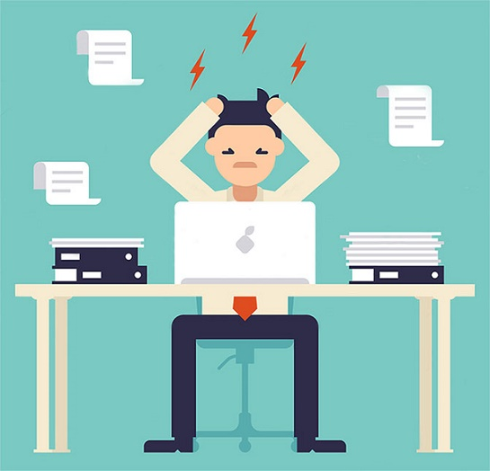 emprendedor estresado